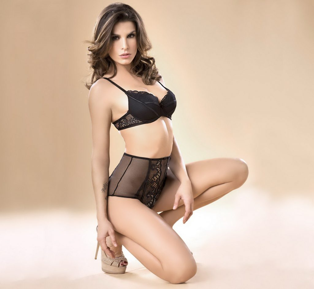 Exotic Face Of A Brunette Just With Lingerie - XLondonEscorts