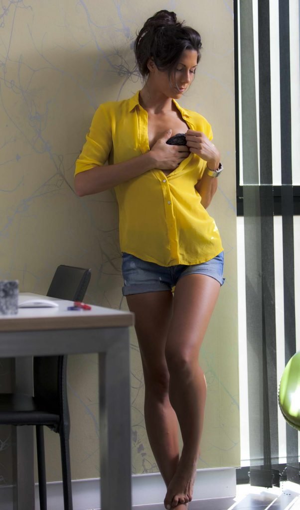 Hot Latin Girl Getting Undressed